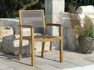 Stackable garden chair with armrests MYA - Ethimo