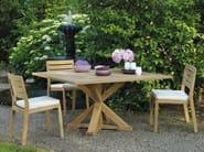 Stackable teak garden chair AMBRA | Garden chair - Ethimo