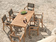 Rectangular teak garden table FRIENDS | Rectangular garden table - Ethimo