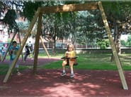 Stainless steel and wood Seesaw SECUR YOUNG - Legnolandia