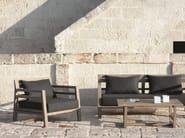Teak garden armchair with armrests COSTES | Garden armchair - Ethimo