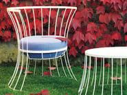 Metal garden armchair