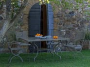 Square metal garden table
