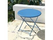 Folding Round metal garden table