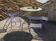 Folding Round garden table FLOWER | Round garden table - Ethimo