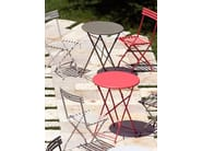 High Round metal garden side table