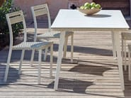 Rectangular Ethimo LightWick® garden table