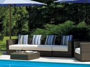 Sectional Ethimo EtWick® garden sofa