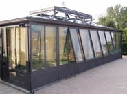 Glass and iron conservatory IRON CONSERVATORY - CAGIS