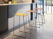 High stackable steel stool