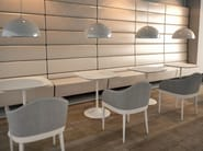 Upholstered restaurant booth SCOOP COLLECTION - ALMA DESIGN