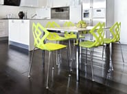 Stackable polypropylene chair