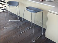 Sled base stackable stool