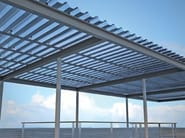 Modular system of corrugated multiwall polycarbonate ARCOPLUS® 1000 - dott.gallina