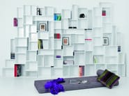 Sectional lacquered MDF bookcase Modular storage wall - Cubit by Mymito