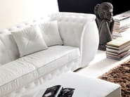 3 seater upholstered leather sofa
