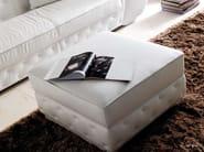 Upholstered leather pouf LAPO-QUILT - CorteZari