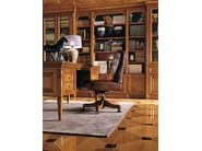 Classic style cherry wood bookcase