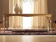 Melange gold leaf Iron frame - sandblasted oak Carrara gold leaf top and legs cat. F