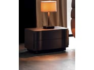 Lacquered bedside table with drawers LEON - CorteZari