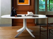 Oval MDF table