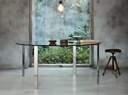 Round crystal table LIKO GLASS   Round table - Desalto