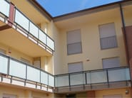Window railing ECO GLASS - SIAMESI by CASA ITALIA
