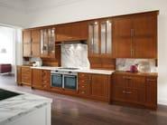 Walnut kitchen with handles - Cucina in noce con maniglie - Cucina in noce a poro aperto - laccato pieno bianco opaco