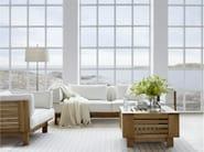 Upholstered teak garden sofa