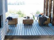 Teak garden armchair with armrests FALSTERBO | Garden armchair - Skargaarden