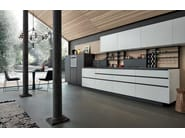 Lacquered kitchen with handles MY PLANET - Varenna by Poliform