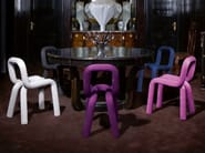 Fabric chair with removable cover BOLD | Chair - Moustache