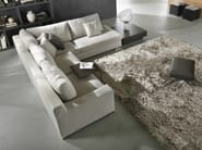 Corner fabric sofa with removable cover