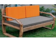 2 seater wooden garden sofa FABRIS MOUNTAIN - Lgtek Outdoor