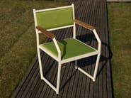 Upholstered chair with armrests MARIN | Upholstered chair - Lgtek Outdoor