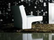 Sled base upholstered armchair LOLA - Giulio Marelli Italia
