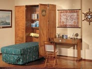 Wooden single bed with cabinet 190 | Pull-down bed - Caroti