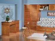 Wooden bedroom set with bridge wardrobe 210 | Bedroom set with bridge wardrobe - Caroti
