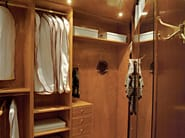 Corner wooden walk-in wardrobe 700 | Corner walk-in wardrobe - Caroti