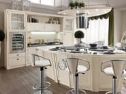 Lacquered wooden kitchen with island BOLINA | Kitchen with island - Caroti
