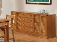 Wooden sideboard with doors with drawers 707 | Sideboard with drawers - Caroti