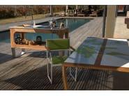 Rectangular wooden garden table OSCAR COLOR - Lgtek Outdoor