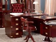 Rectangular solid wood writing desk with drawers T-DESK | Executive desk - Caroti