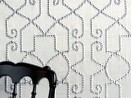 Cotton fabric with graphic pattern for curtains