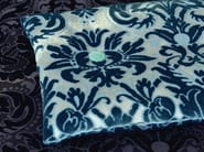 Viscose upholstery fabric with floral pattern