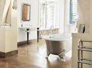 Chrome-plated floor standing bathtub tap with hand shower BERKELEY | floor mounted bath mixer - GENTRY HOME