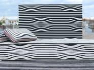 Striped reversible cotton fabric ILLUSION - LELIEVRE