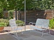 Garden bench with armrests GARDENIAS   Garden bench - BD Barcelona Design