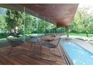 Design Oval steel garden side table