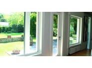 Aluminium and wood thermal break window 80 IWood - ALUK Group